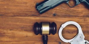 gun, gavel and handcuffs - Springfield firearm attorney