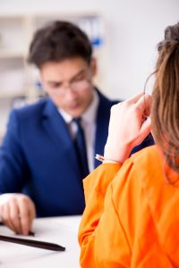 Lawyer meeting his client in prison - Springfield domestic assault attorney